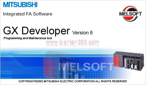 Phan mem lap trinh plc mitsubishi gx developer v8