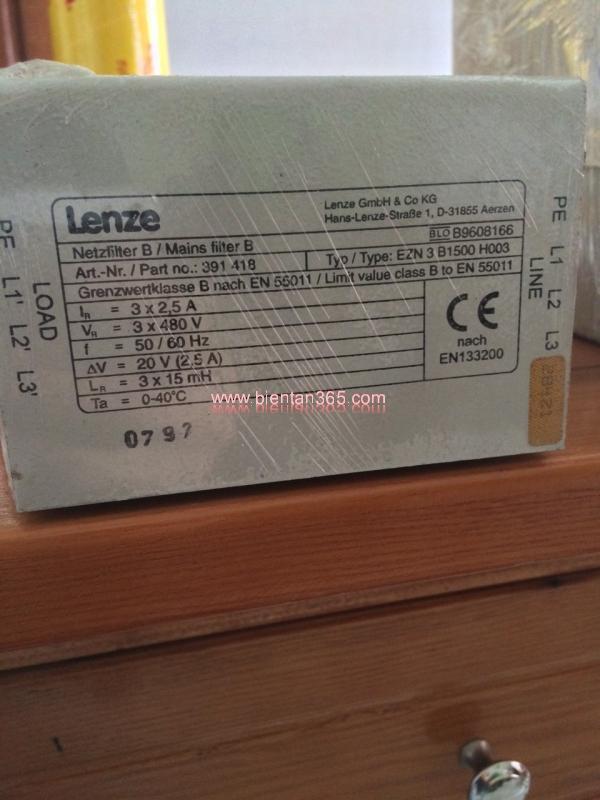 Bộ lọc nguồn LENZE EZN 3 B1500 H003