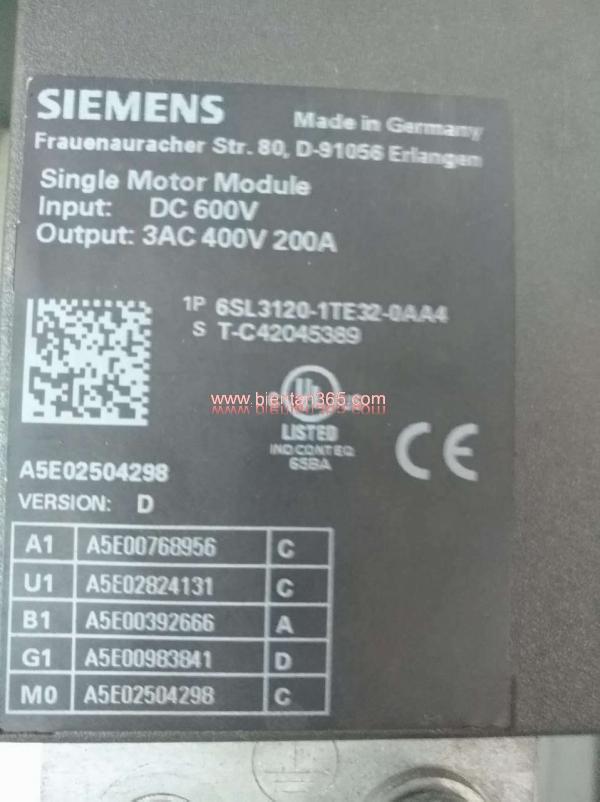 Siemens 6sl3120-1te32-0aa4 2