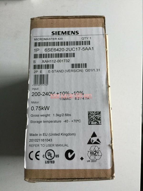 Biến tần siemens mm420 6se6420-2uc17-5aa1 0.75kw 2
