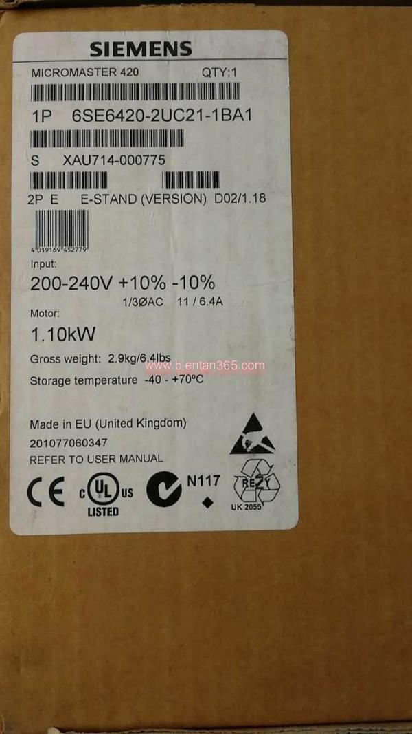 Biến tần Siemens MM420 6SE6420-2UC21-1BA1 1.1kW