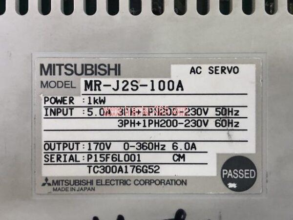 Mr-j2s-100a servo mitsubishi 1kw