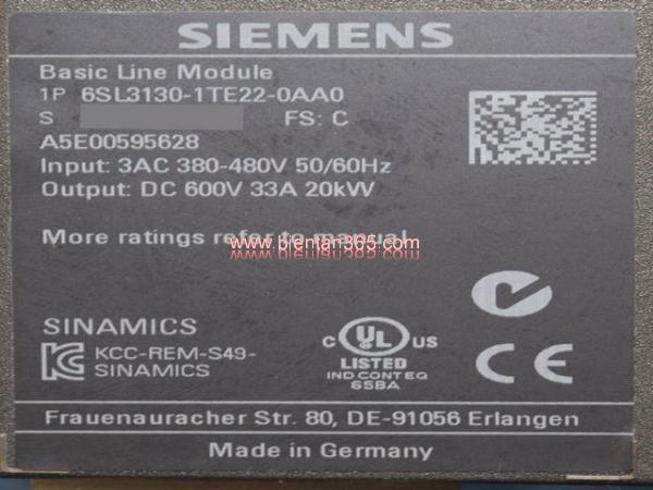 Basic line module 6sl3130-1te22-0aa0, 20kw hình 4