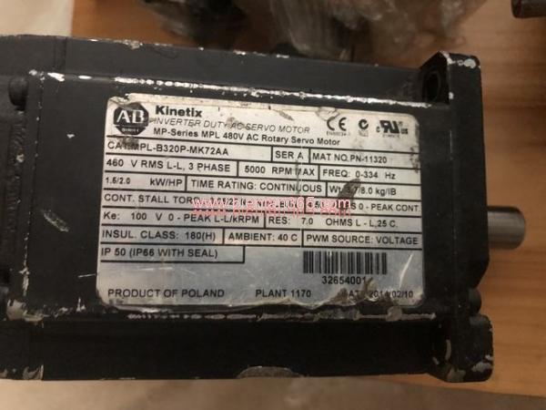 Động cơ ac servo rockwell 1,5kw mpl-b320p-mk72aa