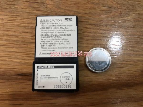 Memory card sram 4mb plc q mitsubishi – q3mem-4mbs