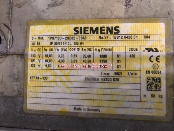 Motor siemens 1ph7103-2qd02-0ba0 hình 2