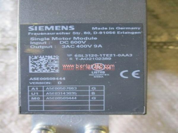 Sinamics s120 6sl3120-1te21-0aa3, 9a, 4.8 kw hình 3